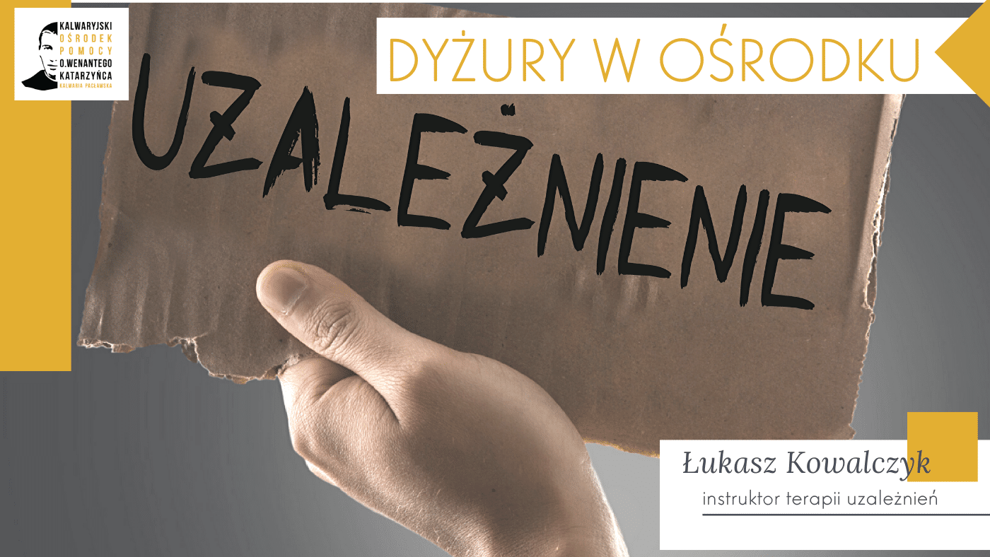 Niedziela, 8 marca – terapeuta uzależnień, Łukasz Kowalczyk
