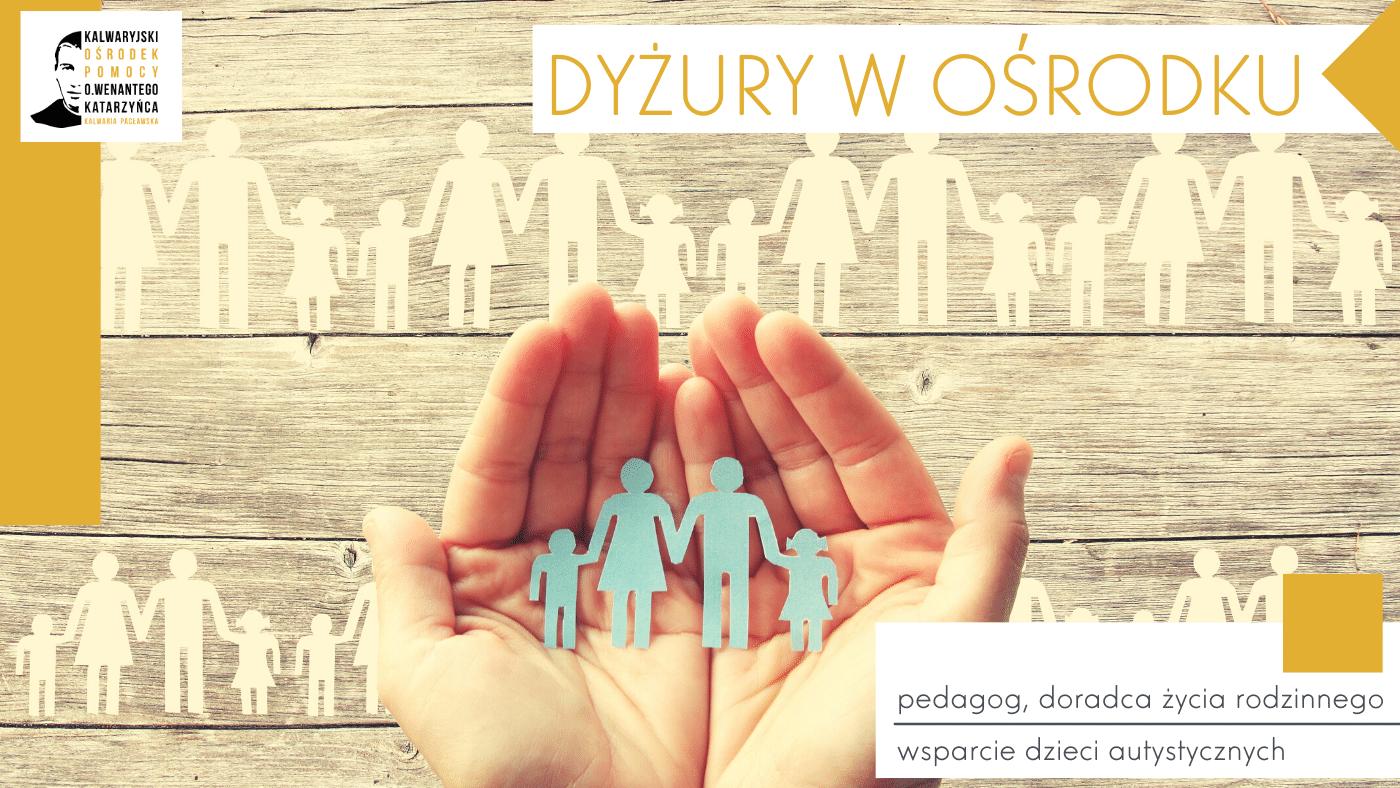 Niedziela, 16 lutego – pedagog, doradca życia rodzinnego, wsparcie dzieci autystycznych