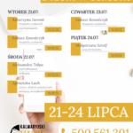 Plan telefonicznych dyżurów w ośrodku: 21 – 24 lipca 2020 r.