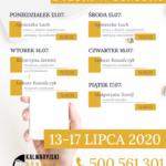 Plan telefonicznych dyżurów w ośrodku: 13 – 17 lipca 2020 r.