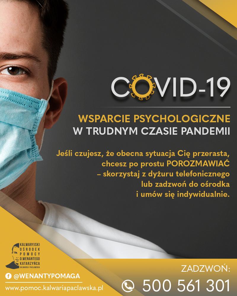 COVID – wsparcie psychologiczne